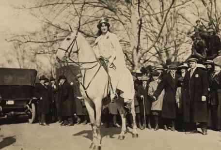 1913 March 3 parade Inez Milholland c Everett Hist shutterstock_242817022