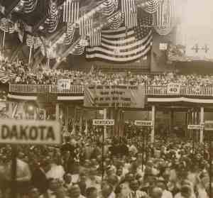 1920 Low Res Republican Conven Chicago Banner cEverette Historical shutterstock_242816980