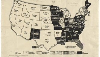 Suffrage states c Norman B Leventhan Map Center Boston Public Library 06_01_008662-A