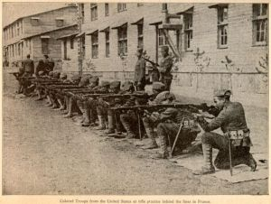 Black Soldiers at Rifle Training Behind the French Lines