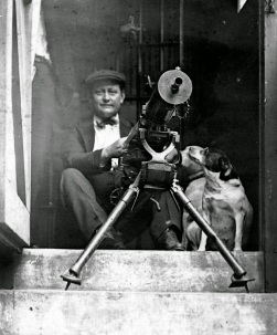 Man with Machine Gun at the City Jail Where Black Prisoners Had Rioted