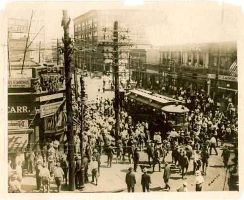 A Mob Stopped a Street Car During the Bloody East St. Louis, Illinois Riots of February 1917