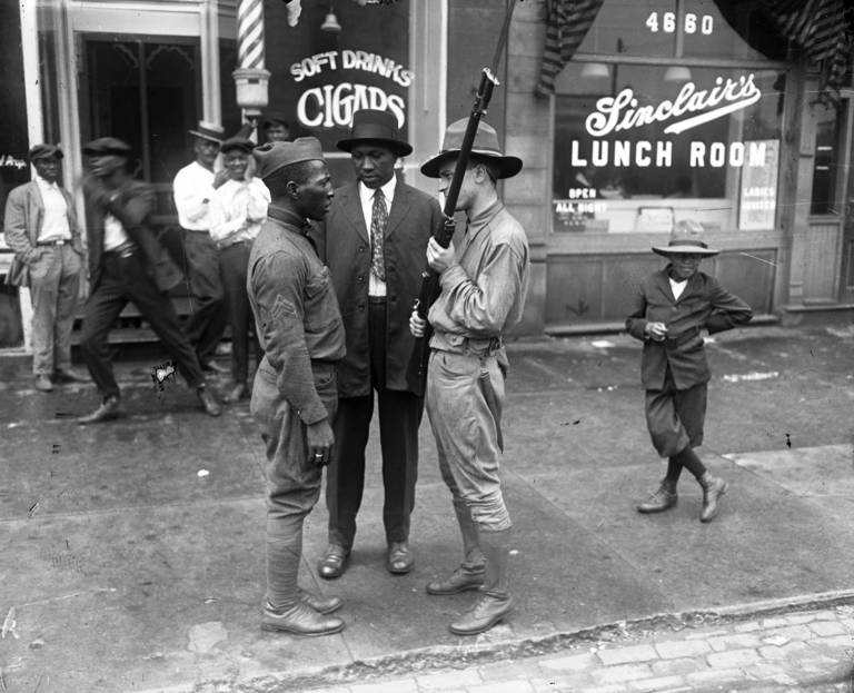 Black Soldier and Militia Chi 1919